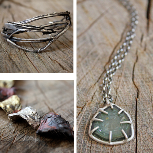 "We love the rawness, the fluidity and the organic shapes of her pieces. Working in ""Water - Casting"" Emily creates wild and savage precious metal jewelry that is to die for. Follow her on  Facebook  and  Tumblr ."