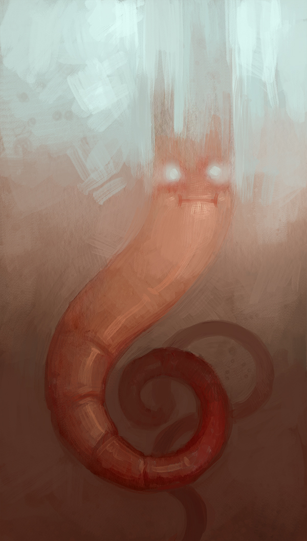 Watercolor doodle that I continued to doodle on in photoshop. Not sure what it is . . . the hubby thinks it's a possesed shrimp.
