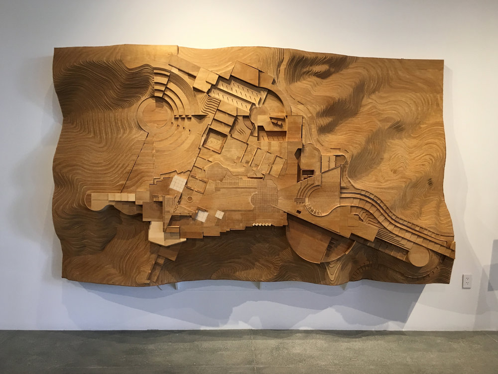 Topographical model of the Getty Museum site, Richard Meier Archive, Mana Contemporary