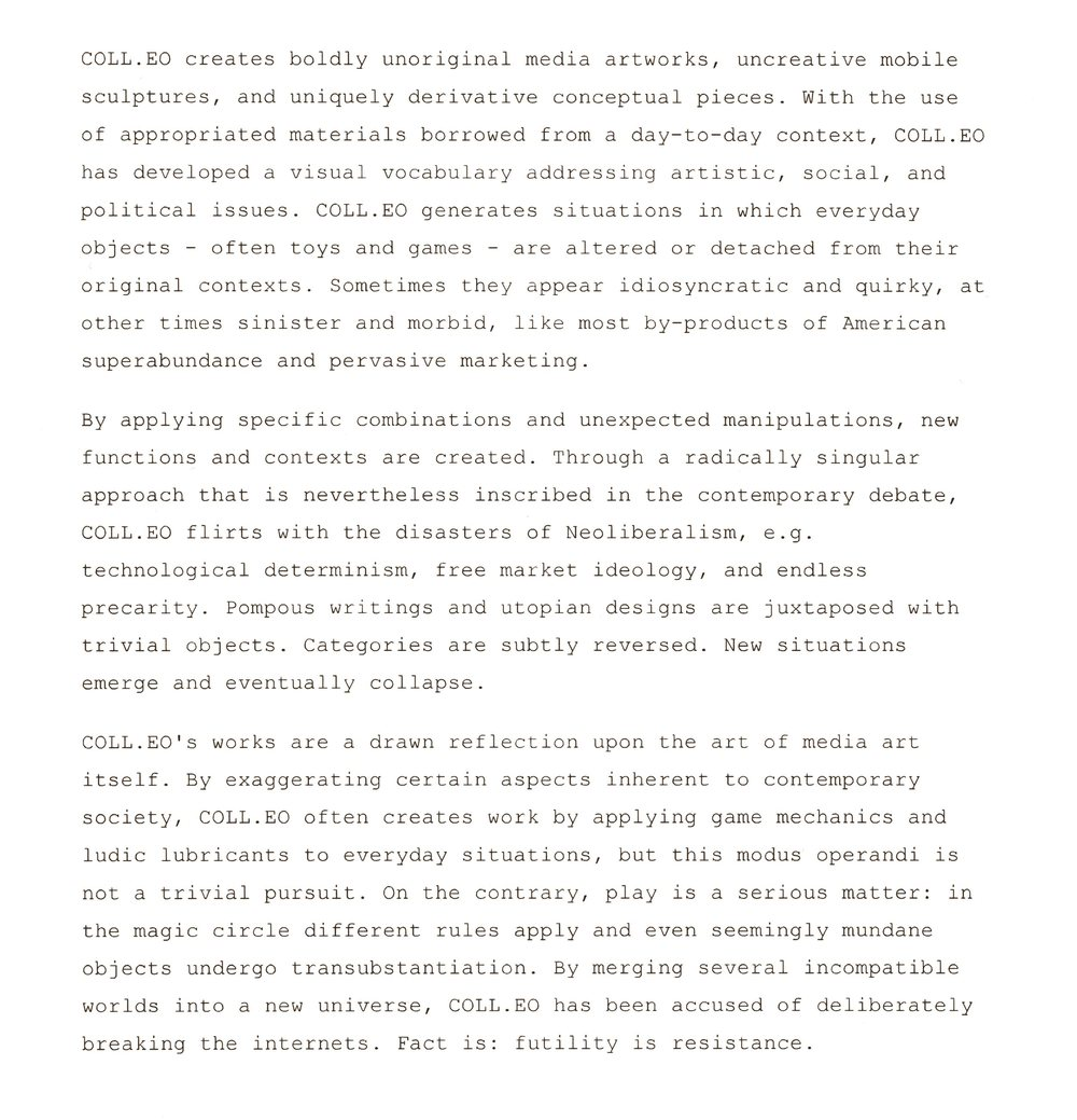 This artist statement was written by a bot.   It was created with  500 letters.       It changes at random intervals.