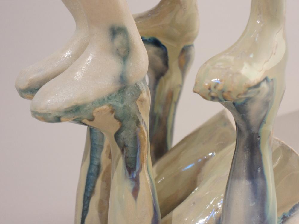 Carmen Lang, Mirror mirror (detail) ,Stoneware ,6.5 x 4 x 4 inches,2014