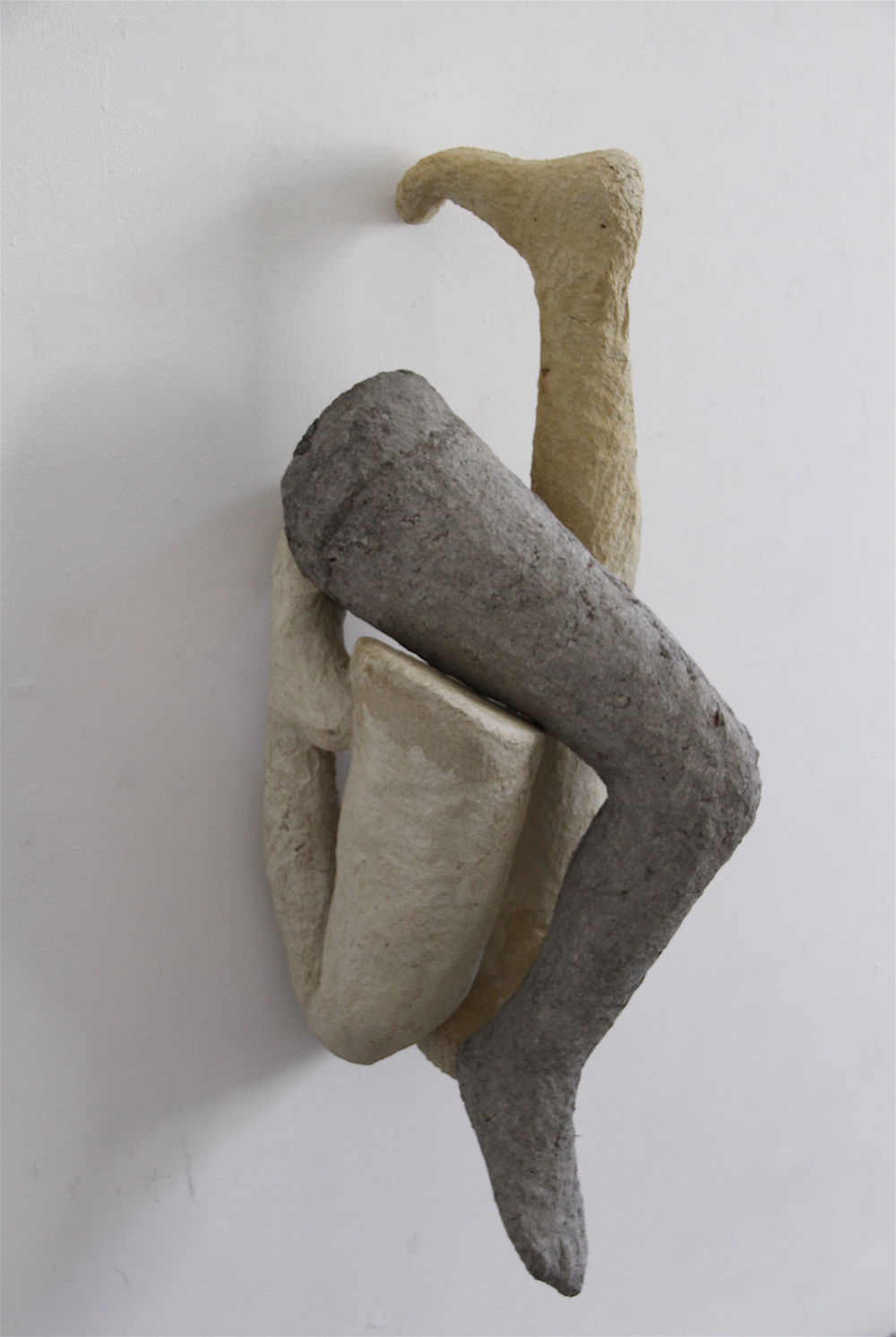 Carmen Lang,  Trio , Paper maché, clay 38 x 14 x 19 inches,  2013