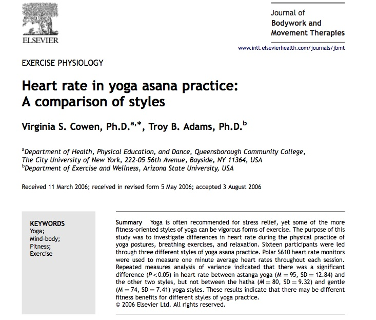 yoga asana and heart rate copy