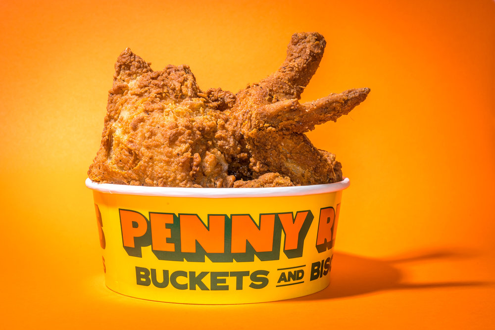 Bucket of Damn Fine Fried Chicken