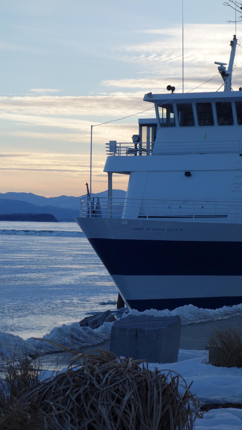 Lake Champlain, frozen solid!