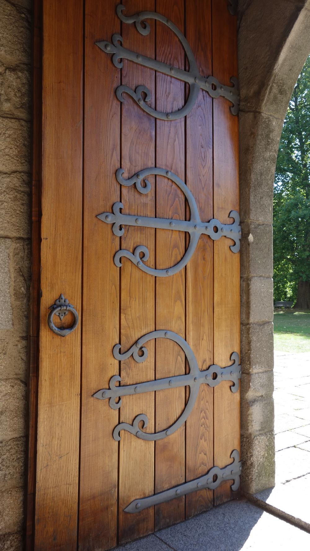 Castle door in Guimaraes