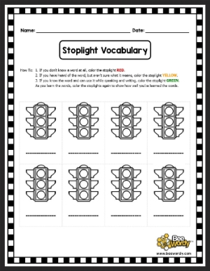 This activity is perfect for independent work time and self-monitoring! Players will love going from red to green as they increase their vocabulary.