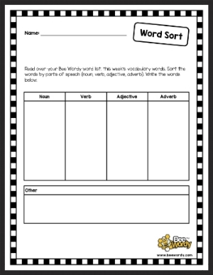 This is a great sorting activity to use any time. It can also be transformed into an excellent writing activity!
