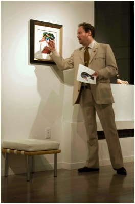 "Rob McBroom, seen here with his 2012 Duck Stamp contest entry, ""Comrade Tim Taylor"""