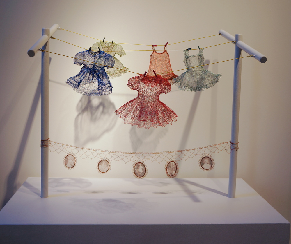 Karen Searle, How Mother Dressed Me, hand knit wire, $3500  Individual dresses available by commission.