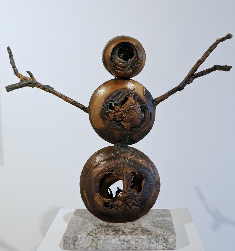 David Aschenbrener, Snowman, bronze, $3000