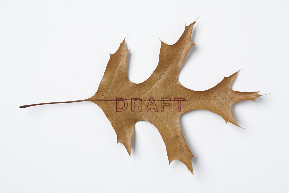 Draft  stamped leaf