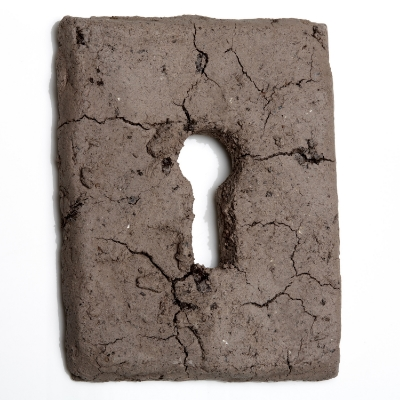 Habitat  keyhole covers and dried mud