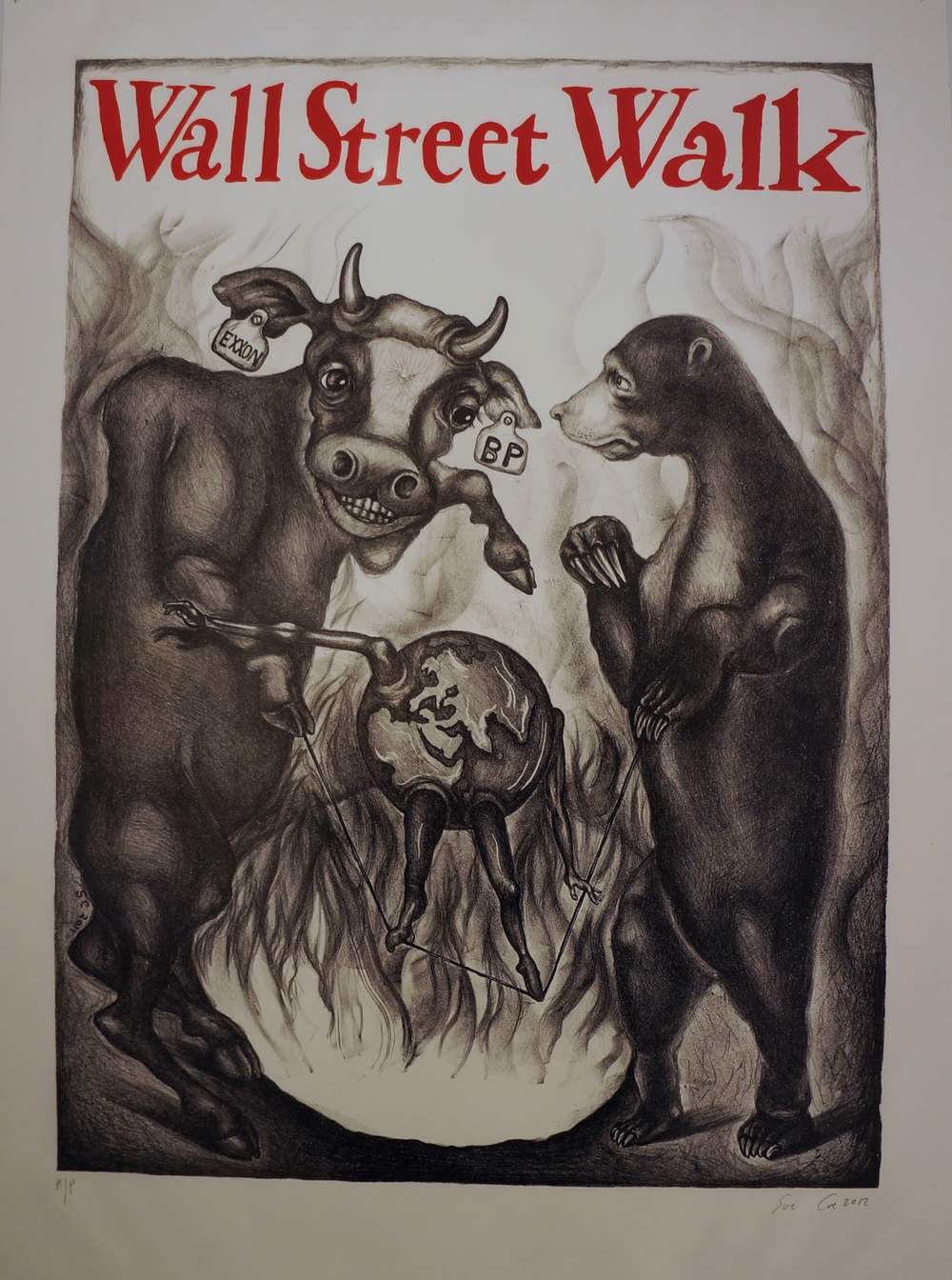 Sue Coe, Wall Street Walk