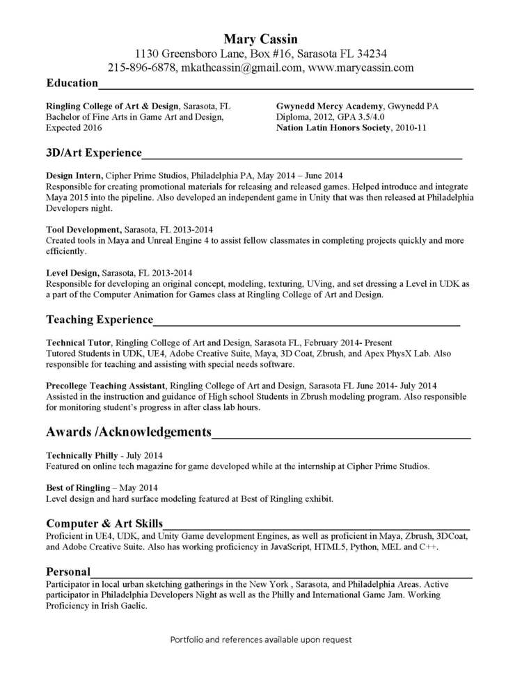 Latin Honors On Resume
