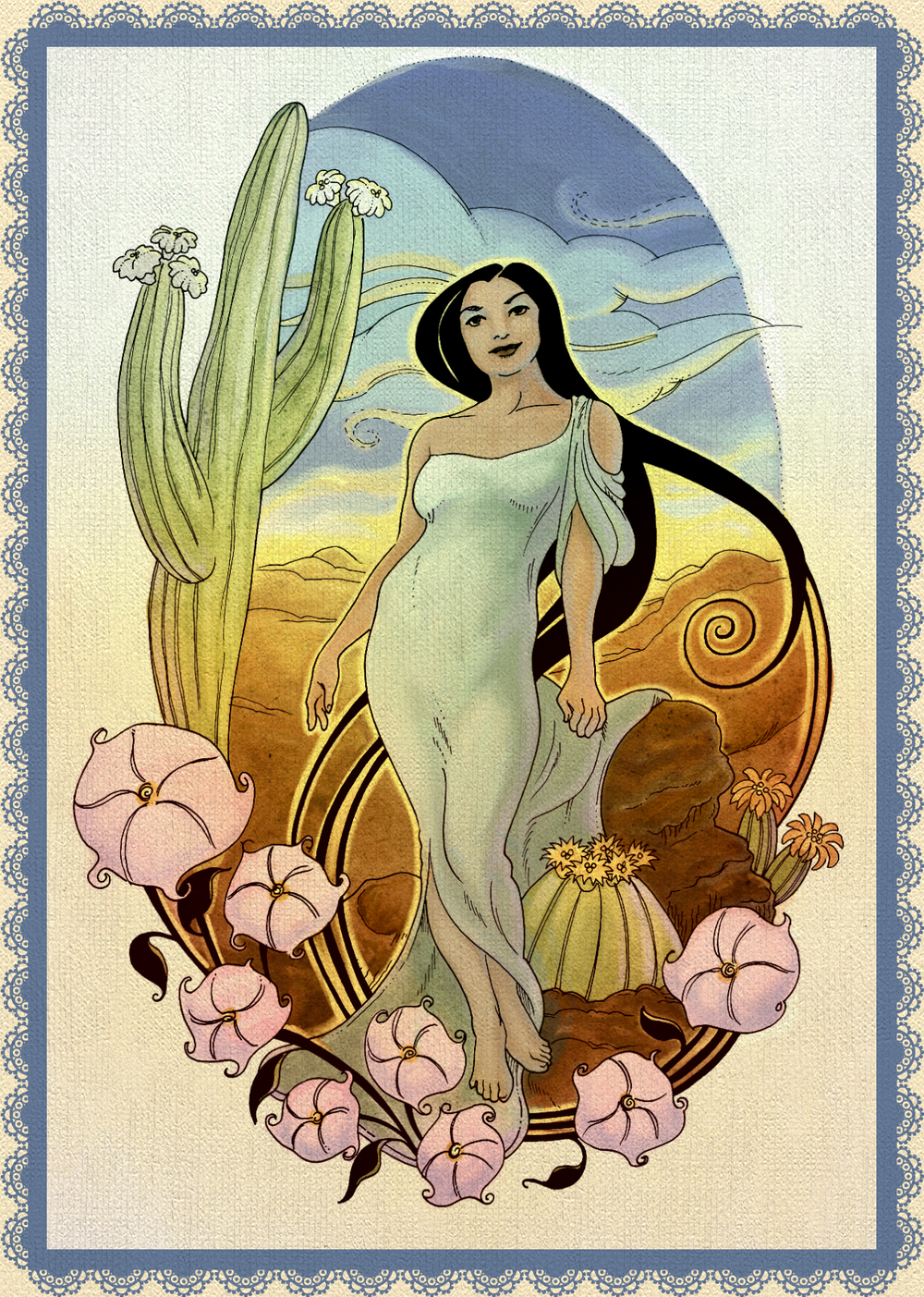 Goddess of the Sonoran Desert.  Prints $20.