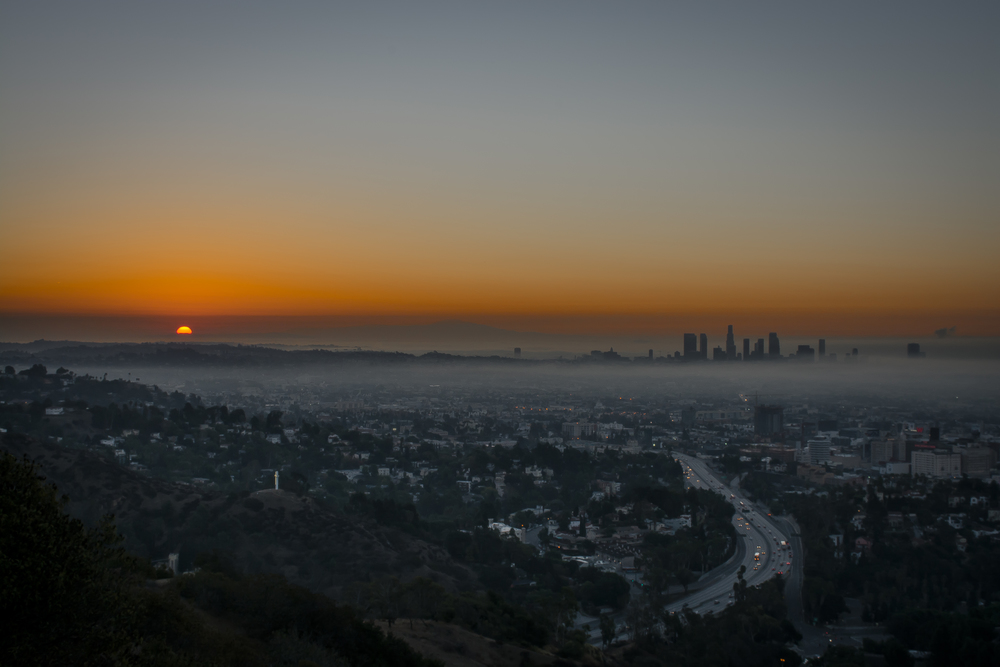 Sunrise @ Runyon Canyon. Los Angeles, CA.