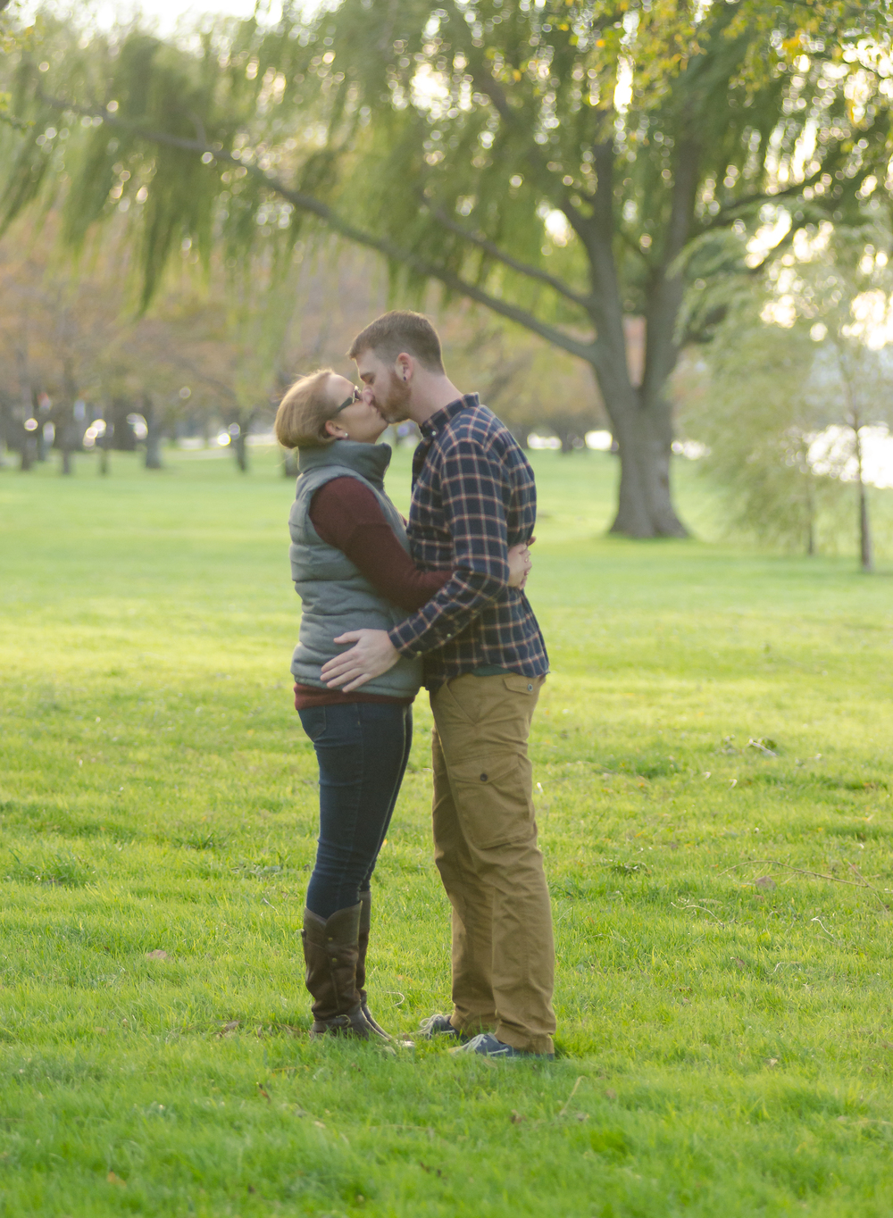 Arlington Memorial Bridge Engagement Couple Photo
