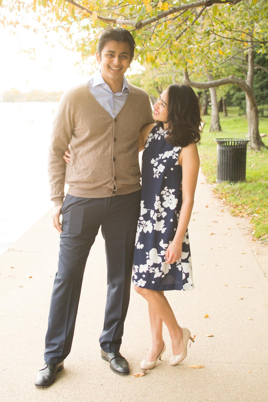 FDR Memorial Engagement Couple Photo