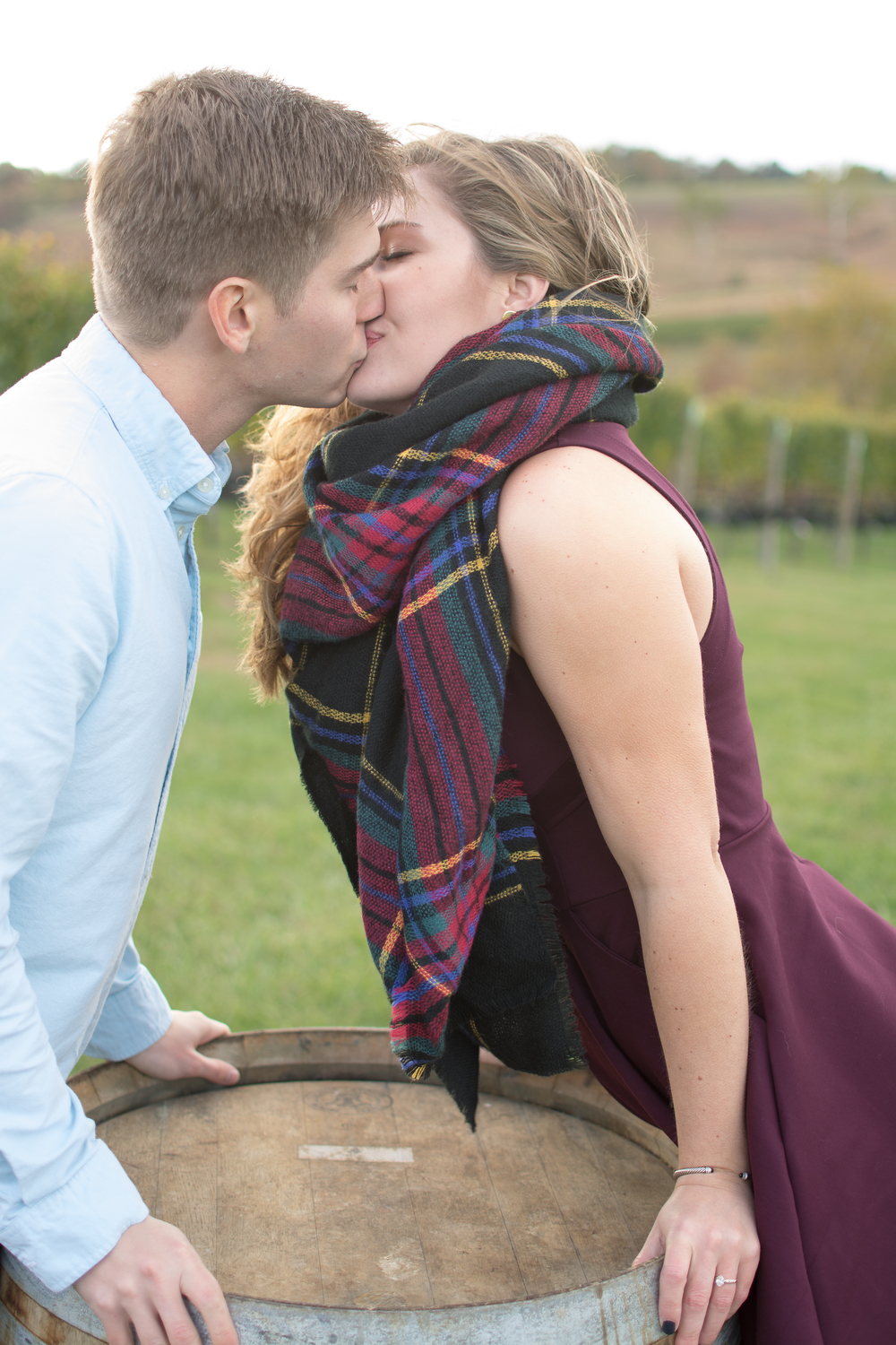 Stone Tower Winery Engagement Photos