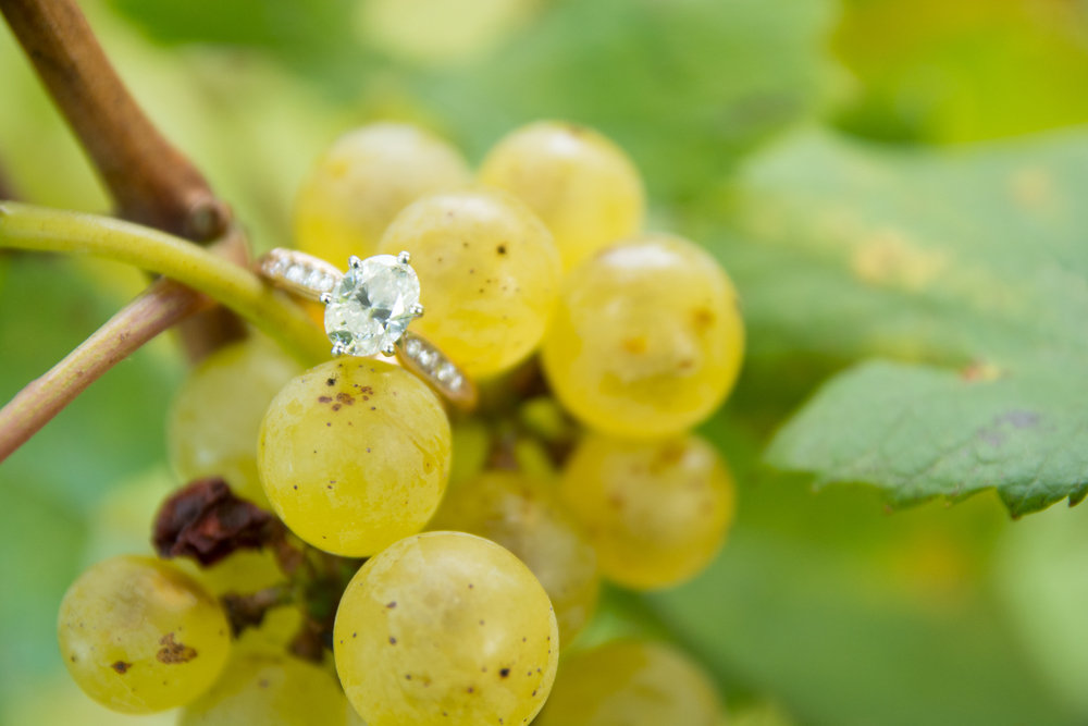 Stone Tower Winery Engagement Ring Photos