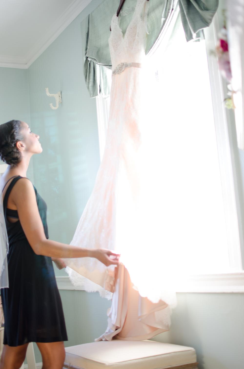 Belmont Manor & Historic Park Wedding Bride Dress Photo
