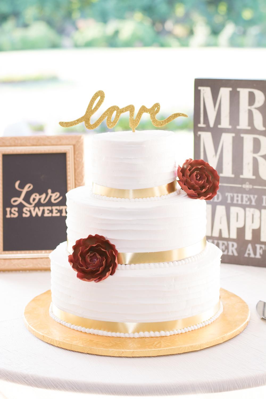 Belmont Manor & Historic Park Wedding Cake Photo