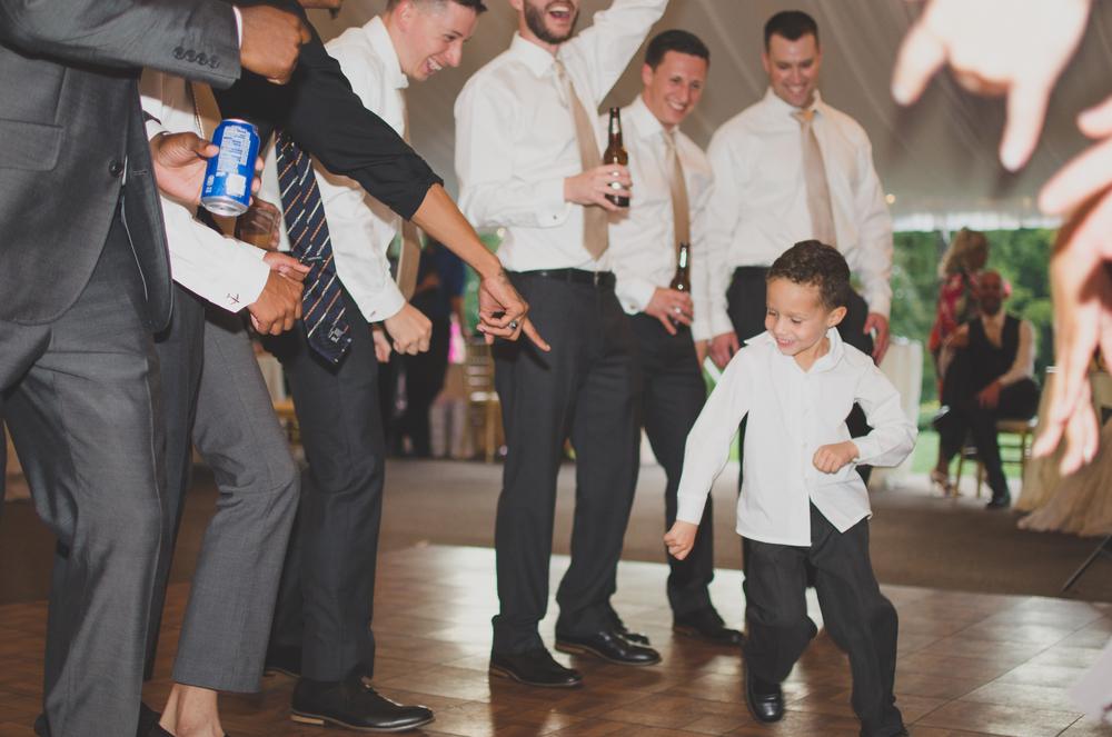 Belmont Manor & Historic Park Wedding Reception Ringbearer Dancing Photo