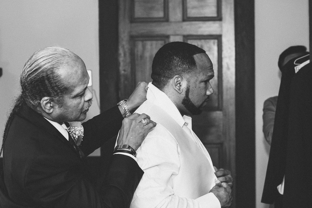 Springfield Manor Winery & Distillery Wedding Groom and Dad Getting Ready Photo