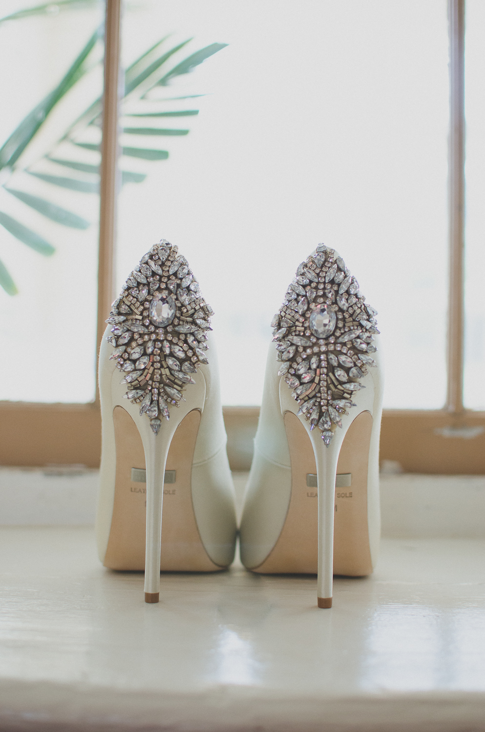 Springfield Manor Winery & Distillery Wedding Bride Heels Photo