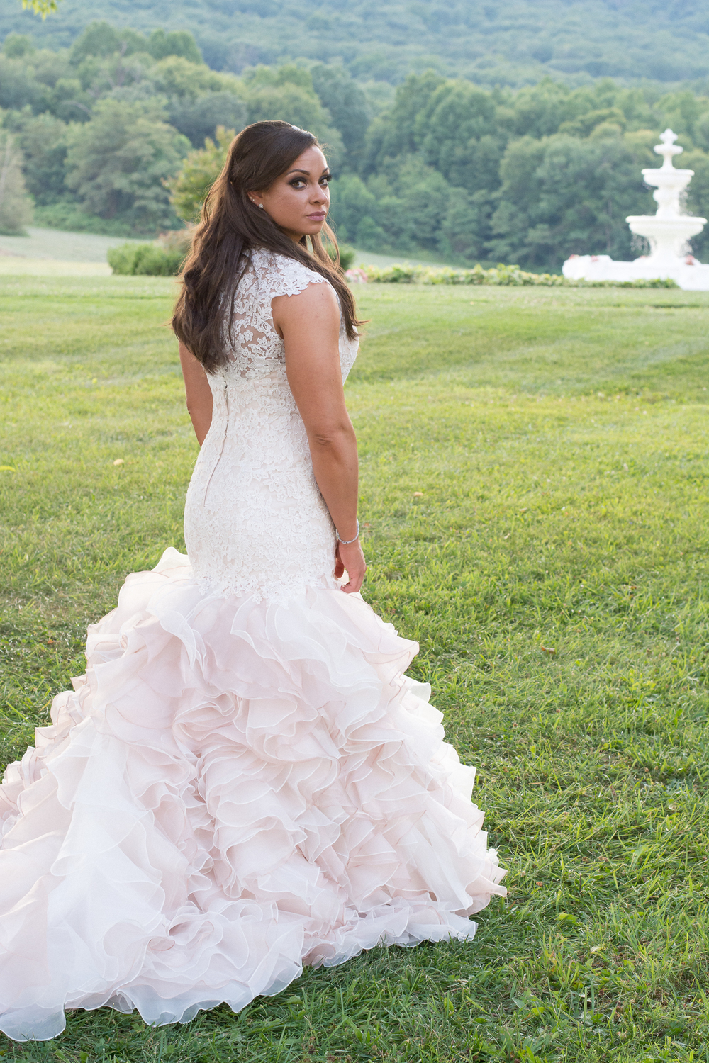 Springfield Manor Winery & Distillery Wedding Bride Photos