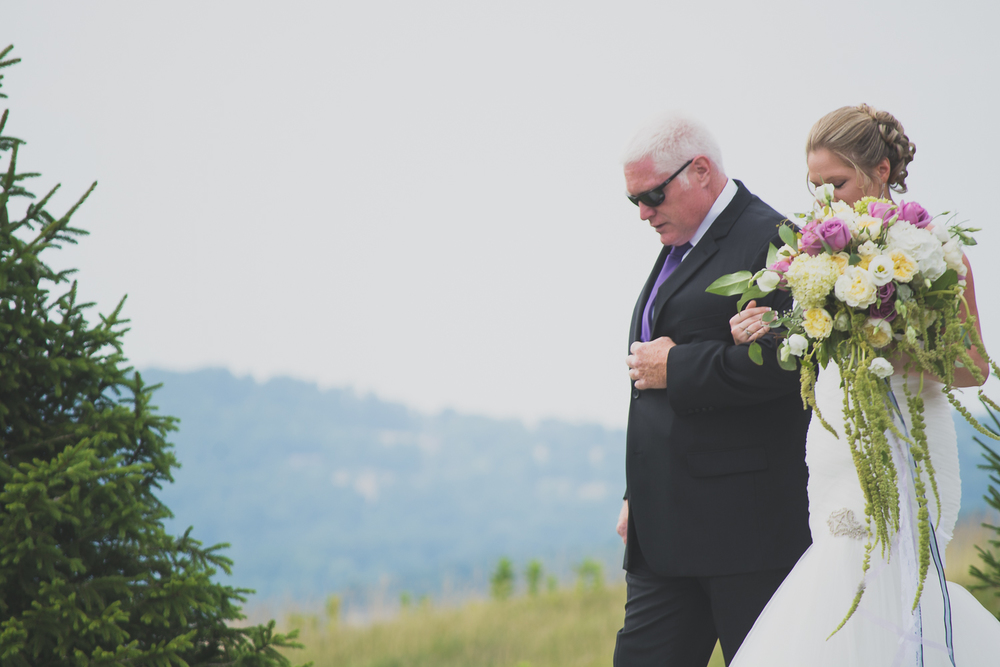 Catoctin Hall at Musket Ridge Wedding bride walk with father ceremony Photo
