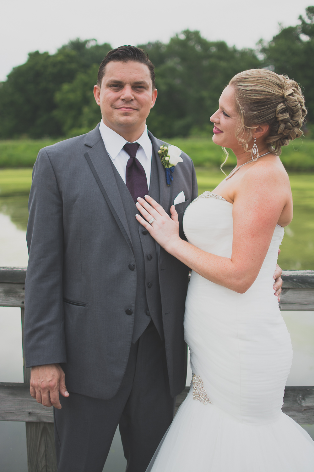 Catoctin Hall at Musket Ridge Wedding bride and groom Photo