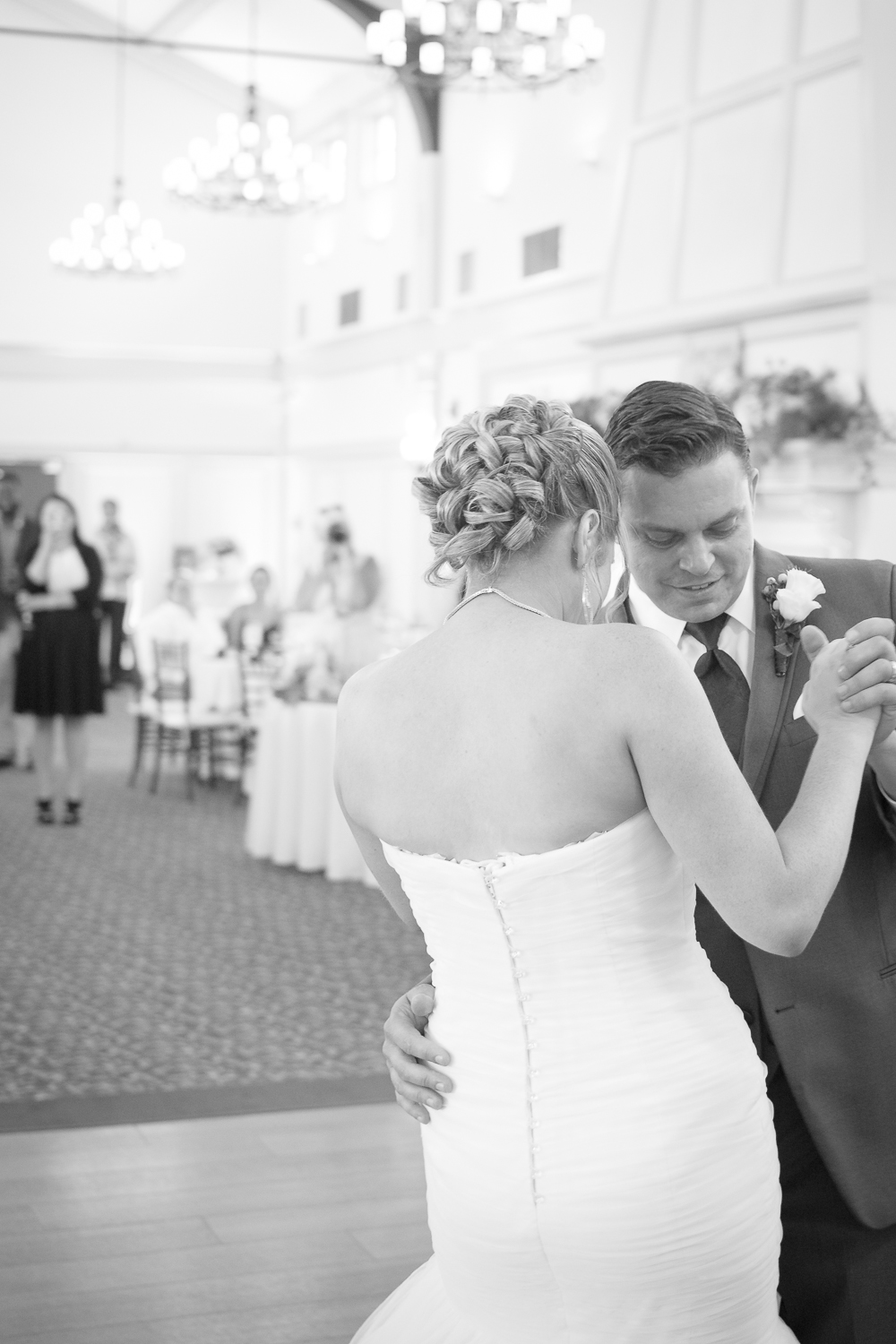 Catoctin Hall at Musket Ridge Wedding bride and groom dance Photo