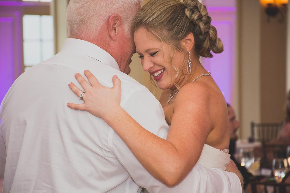 Catoctin Hall at Musket Ridge Wedding bride and dad Photo