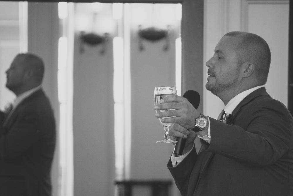Catoctin Hall at Musket Ridge Wedding Toast Best man Photo