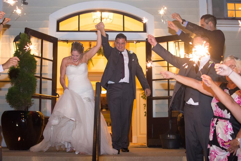 Catoctin Hall at Musket Ridge Wedding bride and groom sparkler sendoff Photo