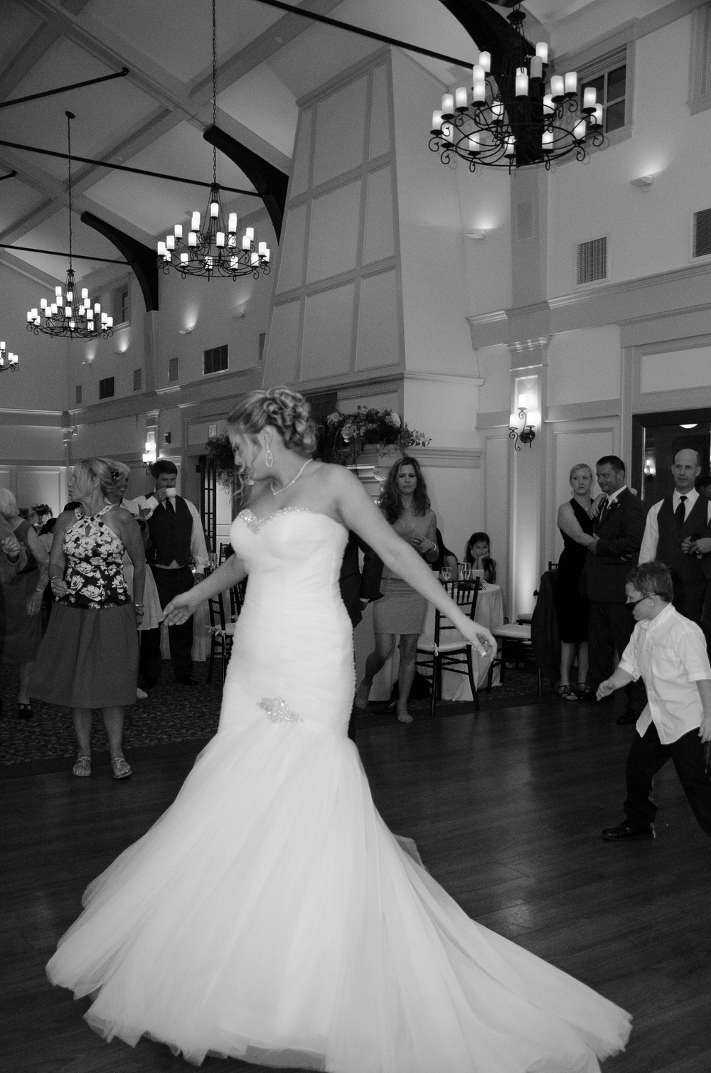 Catoctin Hall at Musket Ridge Wedding bride dancing Photo