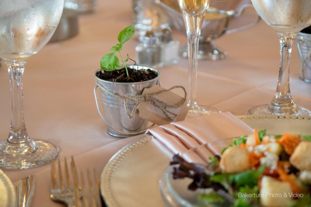Shadow Creek Wedding reception rustic table setting Photo