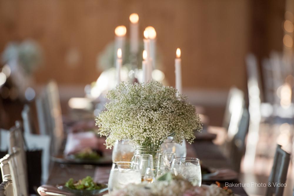 Shadow Creek Wedding rustic table setting reception Photo