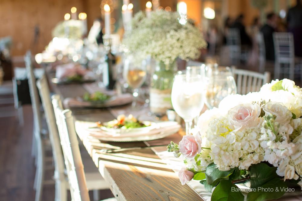 Shadow Creek Wedding reception rustic table Photo