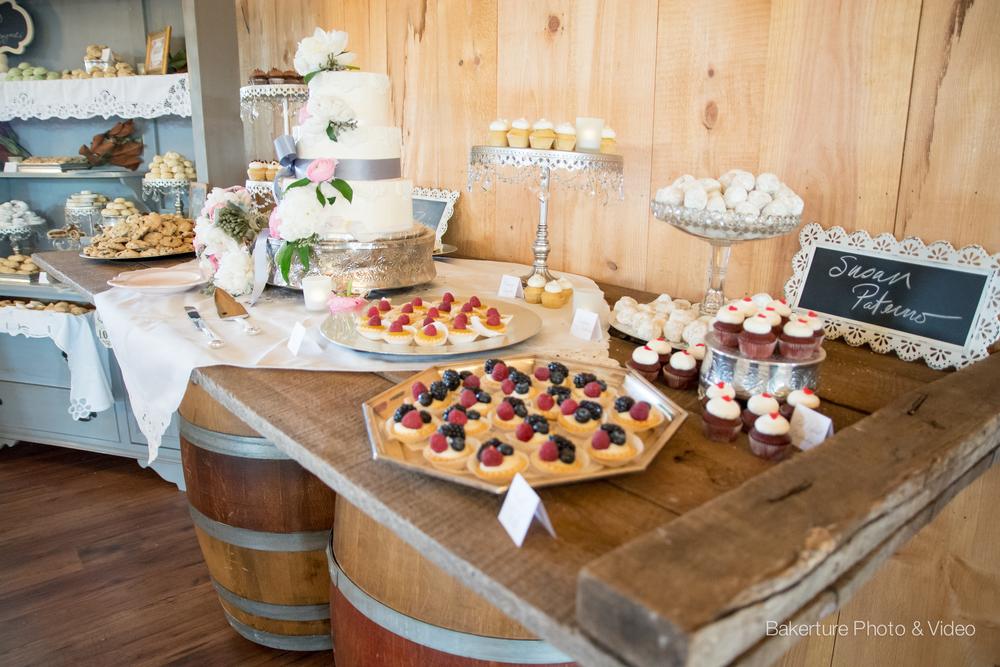 Shadow Creek Wedding dessert rustic table Photo