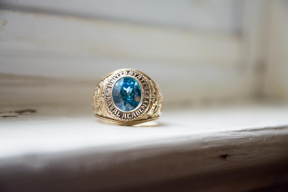 The Glasgow Farm Wedding naval academy ring Photo