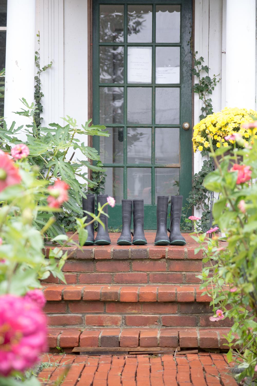 The Glasgow Farm Wedding farm house rain boots Photo