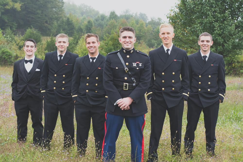 The Glasgow Farm Wedding groomsmen Photo