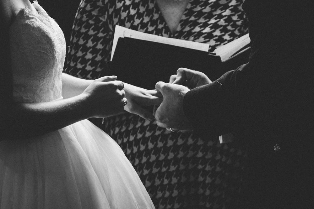 The Glasgow Farm Wedding ring ceremony Photo