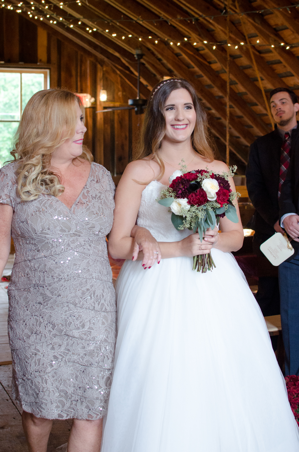 The Glasgow Farm Wedding rustic fall ceremony bride Photo