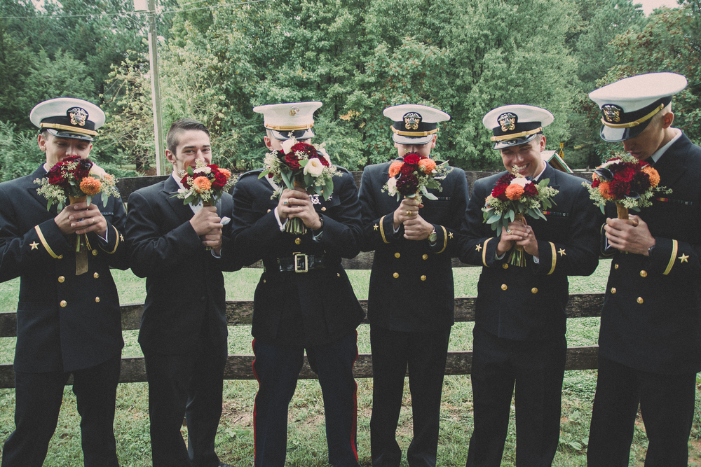 The Glasgow Farm Wedding party groomsmen Photo