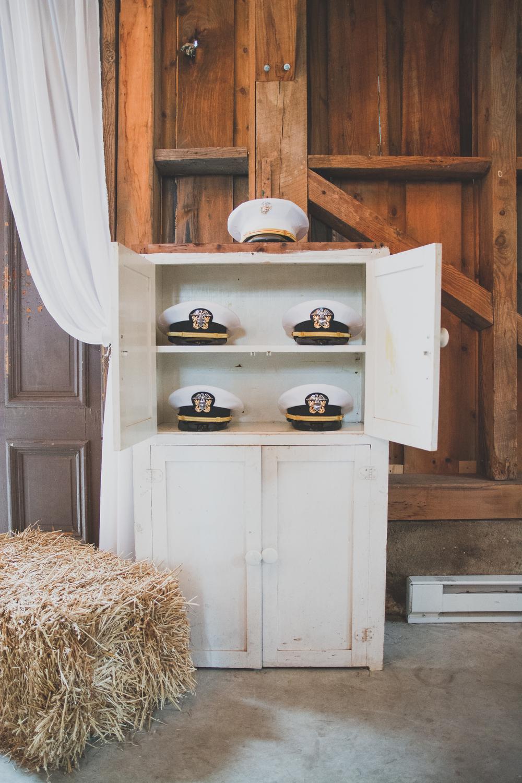 The Glasgow Farm Wedding groomsmen navy cap Photo