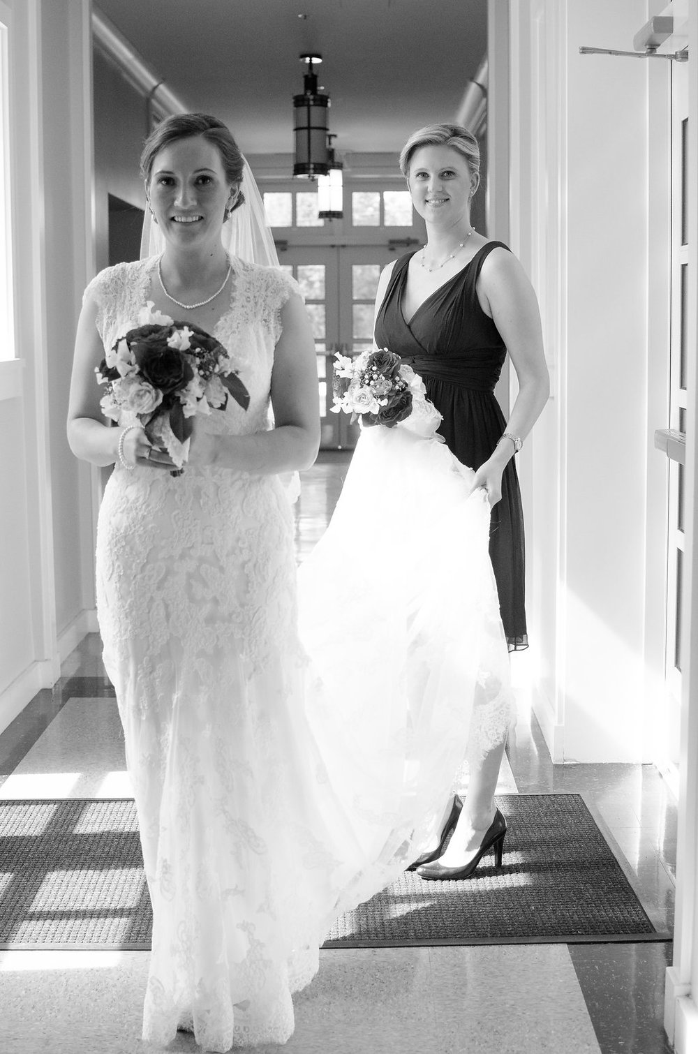 Whitehall Estate and Winery Wedding bride and bridesmaid Photo